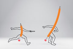 Simple pencils vector illustration