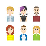Simple people avatar business and carrier character. The simple people avatar business and carrier character Royalty Free Stock Photos
