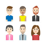 Simple people avatar business and carrier character Stock Images