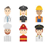 Simple people avatar business and carrier character Stock Image