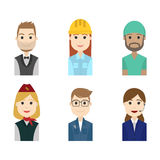 Simple people avatar business and carrier character. The simple people avatar business and carrier character Stock Photo