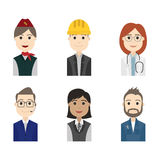 Simple people avatar business and carrier character stock illustration
