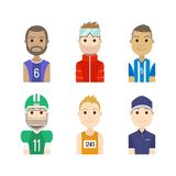 Simple people avatar man sports character Royalty Free Stock Photo