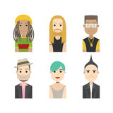 Simple people avatar musician Royalty Free Stock Photography