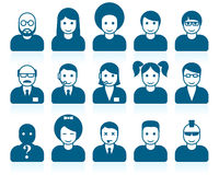 Simple people avatars Royalty Free Stock Photos