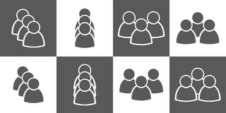 Simple people icon set Stock Images