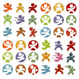 Simple People Icons Royalty Free Stock Photo