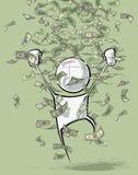 Simple People - Money Rain Stock Images