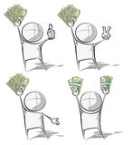 Simple People - Money Royalty Free Stock Photo