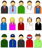 Simple people vector icons Stock Images