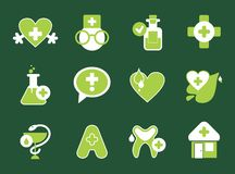 Simple pharmacy icons Stock Photography