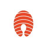 Simple piece of salmon icon Royalty Free Stock Photo