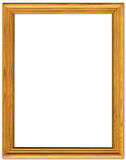 Simple pine picture frame royalty free stock images