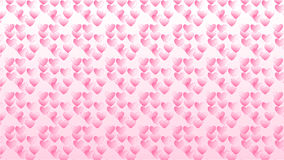 Simple pink background with some hearts Stock Photo