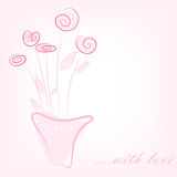Simple pink flowers Royalty Free Stock Photo