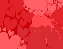 Simple Pink Red Hearts Background Royalty Free Stock Image