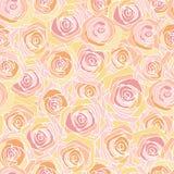 Simple pink rose pattern Stock Photo