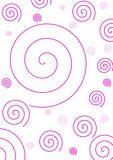 Simple Pink Spiral Background Royalty Free Stock Image