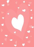Simple pink and white hearts. Pink and white heart  background Stock Photo