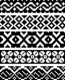 Simple pixel patterns Stock Photos