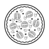 Simple pizza delicius icon stock photos