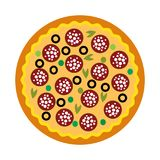 Simple pizza delicius icon royalty free stock photo