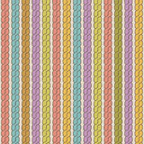 Simple plait seamless pattern. Retro colors background. Royalty Free Stock Photography