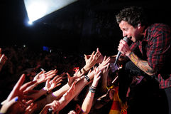 Simple Plan band performs at Barcelona Royalty Free Stock Photos
