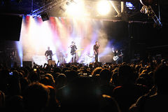 Simple Plan band performs at Razzmatazz Stock Image
