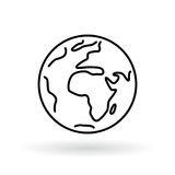 Simple planet icon. Earth sign. World symbol. Stock Image