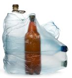 Simple plastic bottles Stock Images