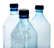 Simple plastic bottles Stock Image