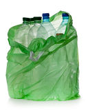 Simple plastic bottles. In a garbage bag on a white background Royalty Free Stock Photography