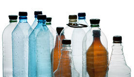Simple plastic bottles Stock Photo