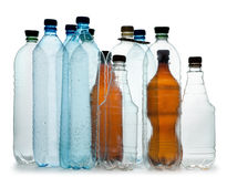 Simple plastic bottles Royalty Free Stock Photos