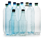 Simple plastic bottles Stock Photography