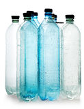 Simple plastic bottles Royalty Free Stock Images