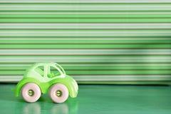 Simple plastic car green Royalty Free Stock Photo
