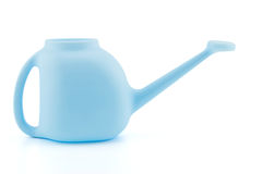 A simple plastic watering can isolated on white background Stock Photo