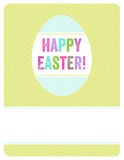 Easter egg invite. A simple, yet playful Easter background that can be used as an invitation, card or flyer Royalty Free Stock Images