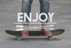 Simple Pleasure Enjoy Hobby Recreation Concept stock photography