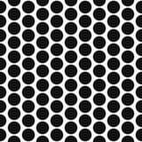 Simple polka dot shape black and white seamless pattern. Royalty Free Stock Image