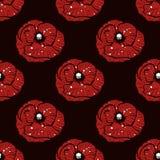 Simple poppy pattern Stock Photos