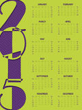 Simple portrait calendar for 2015 Stock Photography