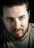 Simple portrait of handsome man with nice eyes Royalty Free Stock Photos