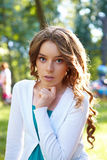 Simple portrait of young woman. Royalty Free Stock Photos