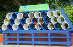 Simple and practical storage rack in Guangzhou Water Park. In Guangzhou Water Park,there set a storage rack,it is Simple and practical royalty free stock image