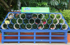 Simple and practical storage rack in Guangzhou Water Park Royalty Free Stock Image