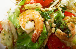 Simple prawn salad Stock Photo