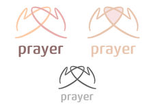 Simple prayer icon/logo Royalty Free Stock Images